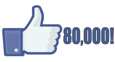 80,000 Facebook Likes